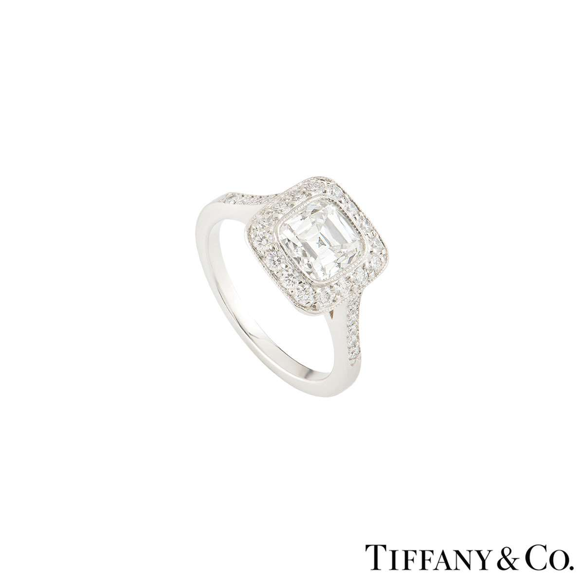 Tiffany & Co. Platinum Legacy Diamond Ring 1.54ct G/VVS1